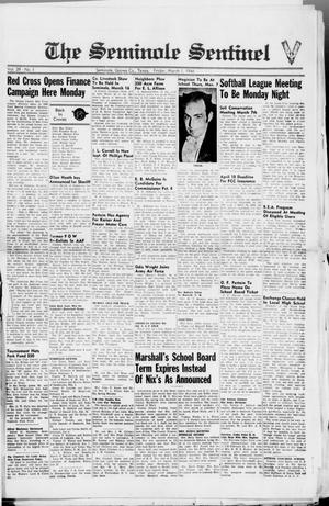 Primary view of object titled 'The Seminole Sentinel (Seminole, Tex.), Vol. 39, No. 1, Ed. 1 Friday, March 1, 1946'.
