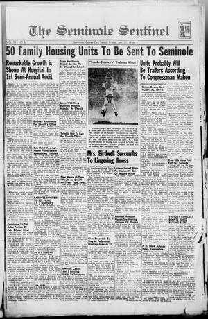 Primary view of object titled 'The Seminole Sentinel (Seminole, Tex.), Vol. 36, No. 51, Ed. 1 Friday, January 21, 1944'.
