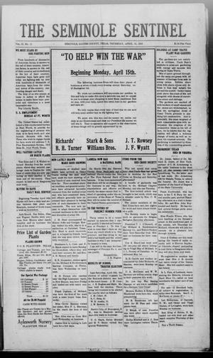Primary view of object titled 'The Seminole Sentinel (Seminole, Tex.), Vol. 12, No. 11, Ed. 1 Friday, April 12, 1918'.