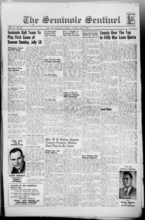 Primary view of object titled 'The Seminole Sentinel (Seminole, Tex.), Vol. 37, No. 23, Ed. 1 Friday, July 7, 1944'.