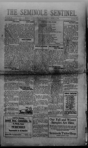 Primary view of object titled 'The Seminole Sentinel (Seminole, Tex.), Vol. 14, No. 23, Ed. 1 Thursday, August 12, 1920'.