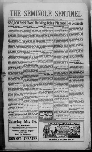 Primary view of object titled 'The Seminole Sentinel (Seminole, Tex.), Vol. 13, No. 11, Ed. 1 Thursday, May 1, 1919'.