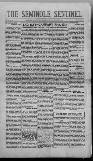 Primary view of object titled 'The Seminole Sentinel (Seminole, Tex.), Vol. 11, No. 51, Ed. 1 Thursday, January 17, 1918'.