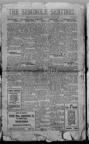Primary view of object titled 'The Seminole Sentinel (Seminole, Tex.), Vol. 13, No. 43, Ed. 1 Thursday, January 1, 1920'.