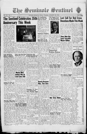 Primary view of object titled 'The Seminole Sentinel (Seminole, Tex.), Vol. 35, No. 1, Ed. 1 Thursday, January 29, 1942'.