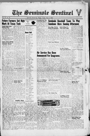 Primary view of object titled 'The Seminole Sentinel (Seminole, Tex.), Vol. 39, No. 10, Ed. 1 Friday, May 3, 1946'.