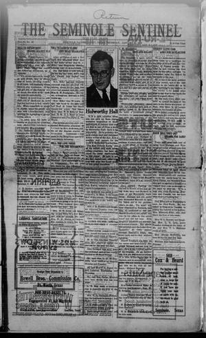 Primary view of object titled 'The Seminole Sentinel (Seminole, Tex.), Vol. 13, No. 46, Ed. 1 Thursday, January 22, 1920'.