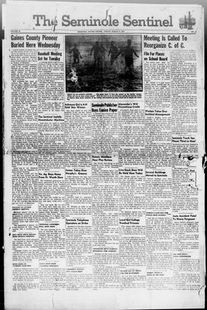 Primary view of object titled 'The Seminole Sentinel (Seminole, Tex.), Vol. 40, No. 3, Ed. 1 Friday, March 14, 1947'.