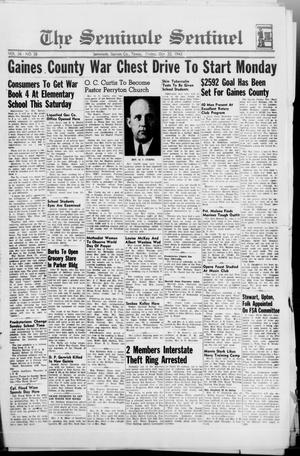 Primary view of object titled 'The Seminole Sentinel (Seminole, Tex.), Vol. 36, No. 38, Ed. 1 Friday, October 22, 1943'.