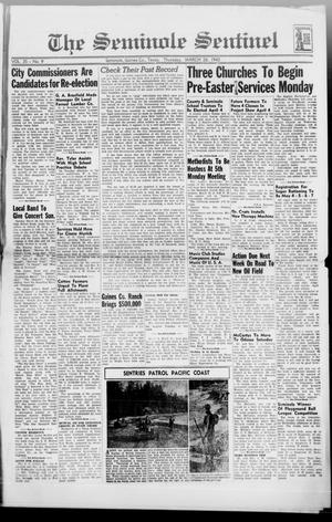 Primary view of object titled 'The Seminole Sentinel (Seminole, Tex.), Vol. 35, No. 9, Ed. 1 Thursday, March 26, 1942'.