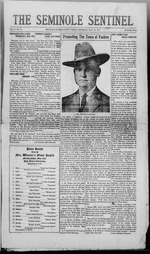 Primary view of object titled 'The Seminole Sentinel (Seminole, Tex.), Vol. 11, No. 19, Ed. 1 Thursday, May 24, 1917'.