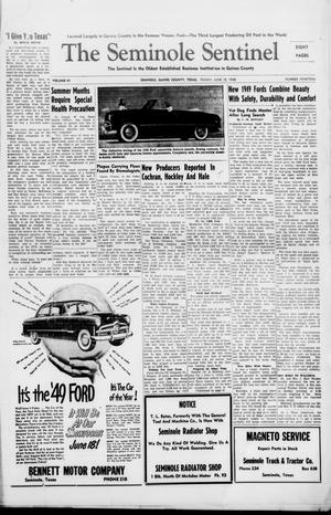 Primary view of object titled 'The Seminole Sentinel (Seminole, Tex.), Vol. 41, No. 19, Ed. 1 Friday, June 18, 1948'.