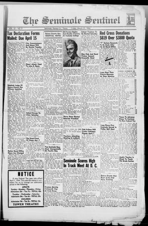 Primary view of object titled 'The Seminole Sentinel (Seminole, Tex.), Vol. 37, No. 9, Ed. 1 Friday, March 31, 1944'.