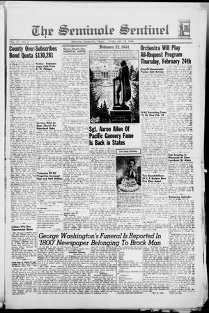Primary view of object titled 'The Seminole Sentinel (Seminole, Tex.), Vol. 37, No. 3, Ed. 1 Friday, February 18, 1944'.