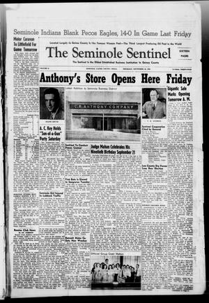 Primary view of object titled 'The Seminole Sentinel (Seminole, Tex.), Vol. 41, No. 34, Ed. 1 Thursday, September 30, 1948'.