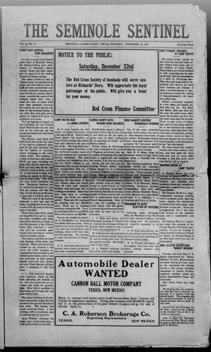 Primary view of object titled 'The Seminole Sentinel (Seminole, Tex.), Vol. 11, No. 48, Ed. 1 Thursday, December 13, 1917'.
