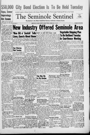 Primary view of object titled 'The Seminole Sentinel (Seminole, Tex.), Vol. 40, No. 54, Ed. 1 Friday, February 20, 1948'.