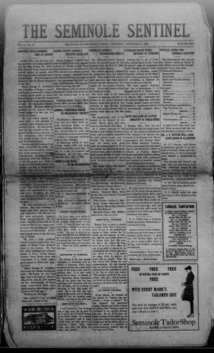 Primary view of object titled 'The Seminole Sentinel (Seminole, Tex.), Vol. 14, No. 35, Ed. 1 Thursday, November 11, 1920'.