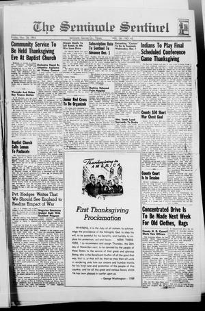 Primary view of object titled 'The Seminole Sentinel (Seminole, Tex.), Vol. 36, No. 43, Ed. 1 Friday, November 26, 1943'.