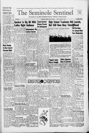 Primary view of object titled 'The Seminole Sentinel (Seminole, Tex.), Vol. 41, No. 7, Ed. 1 Friday, March 26, 1948'.