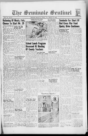 Primary view of object titled 'The Seminole Sentinel (Seminole, Tex.), Vol. 36, No. 8, Ed. 1 Friday, March 19, 1943'.
