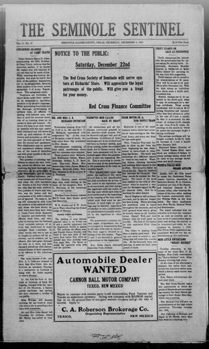 Primary view of object titled 'The Seminole Sentinel (Seminole, Tex.), Vol. 11, No. 47, Ed. 1 Thursday, December 6, 1917'.