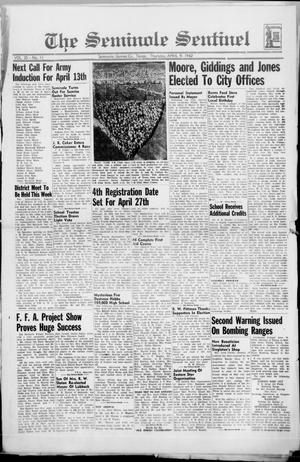 Primary view of object titled 'The Seminole Sentinel (Seminole, Tex.), Vol. 35, No. 11, Ed. 1 Thursday, April 9, 1942'.