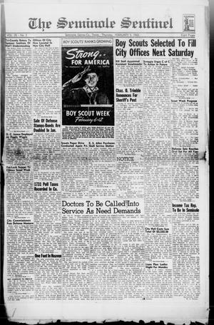 Primary view of object titled 'The Seminole Sentinel (Seminole, Tex.), Vol. 35, No. 2, Ed. 1 Thursday, February 5, 1942'.