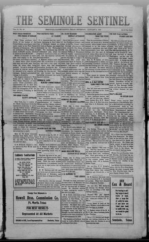 Primary view of The Seminole Sentinel (Seminole, Tex.), Vol. 13, No. 44, Ed. 1 Thursday, January 8, 1920