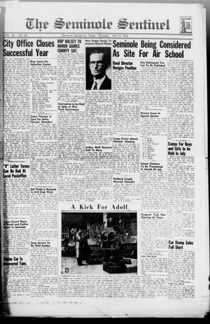 Primary view of object titled 'The Seminole Sentinel (Seminole, Tex.), Vol. 35, No. 24, Ed. 1 Thursday, July 9, 1942'.