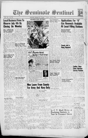 Primary view of object titled 'The Seminole Sentinel (Seminole, Tex.), Vol. 36, No. 22, Ed. 1 Friday, July 2, 1943'.
