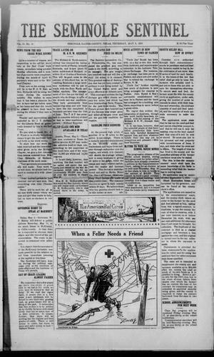 Primary view of object titled 'The Seminole Sentinel (Seminole, Tex.), Vol. 12, No. 15, Ed. 1 Thursday, May 9, 1918'.