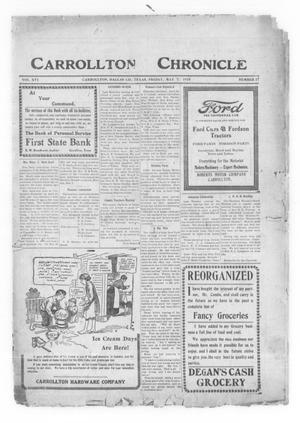 Primary view of object titled 'Carrollton Chronicle (Carrollton, Tex.), Vol. 16, No. 27, Ed. 1 Friday, May 7, 1920'.
