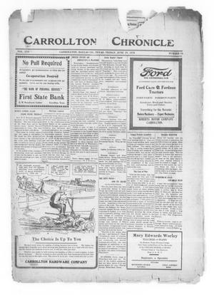 Primary view of object titled 'Carrollton Chronicle (Carrollton, Tex.), Vol. 16, No. 34, Ed. 1 Friday, June 25, 1920'.
