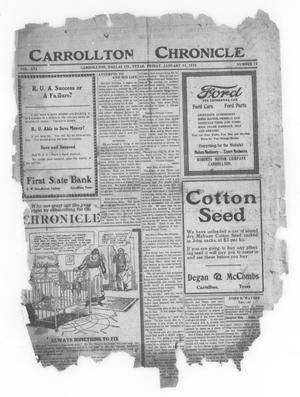 Primary view of object titled 'Carrollton Chronicle (Carrollton, Tex.), Vol. 16, No. 12, Ed. 1 Friday, January 23, 1920'.