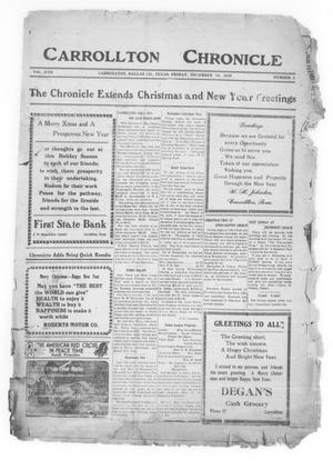 Primary view of object titled 'Carrollton Chronicle (Carrollton, Tex.), Vol. 17, No. 8, Ed. 1 Friday, December 24, 1920'.
