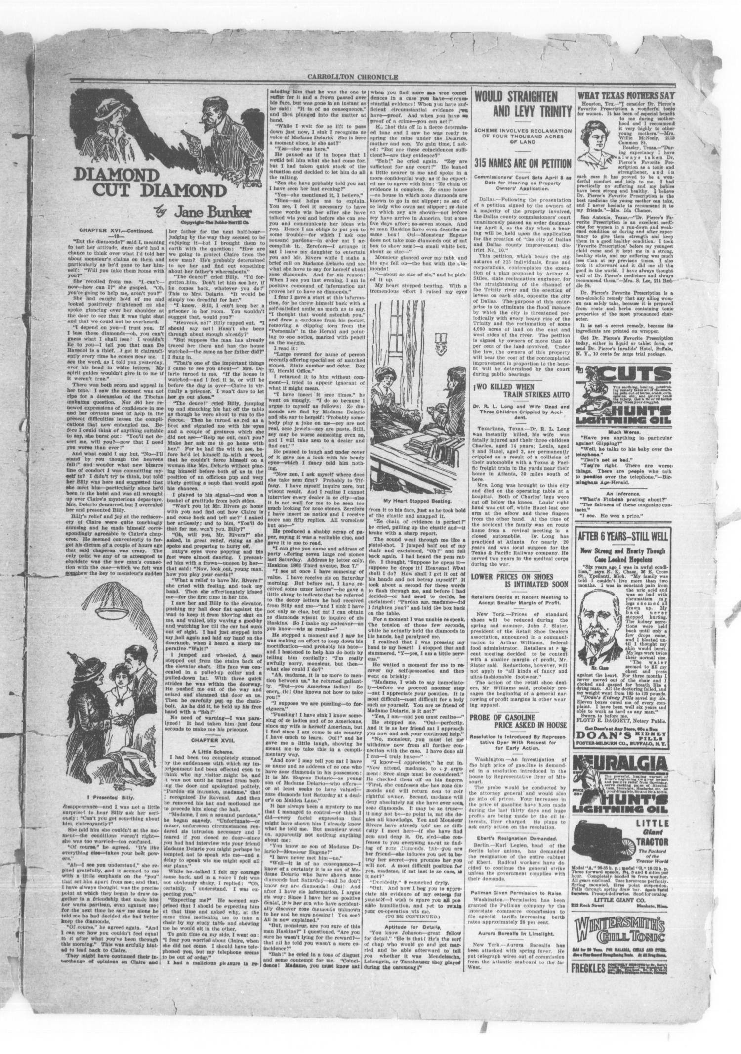 Carrollton Chronicle (Carrollton, Tex.), Vol. 16, No. 21, Ed. 1 Friday, March 26, 1920                                                                                                      [Sequence #]: 3 of 8