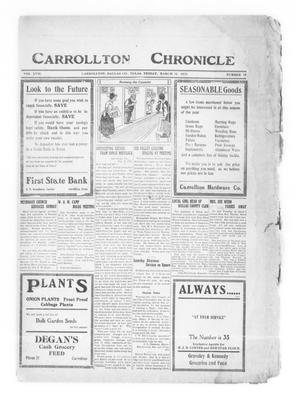 Primary view of object titled 'Carrollton Chronicle (Carrollton, Tex.), Vol. 17, No. 18, Ed. 1 Friday, March 11, 1921'.