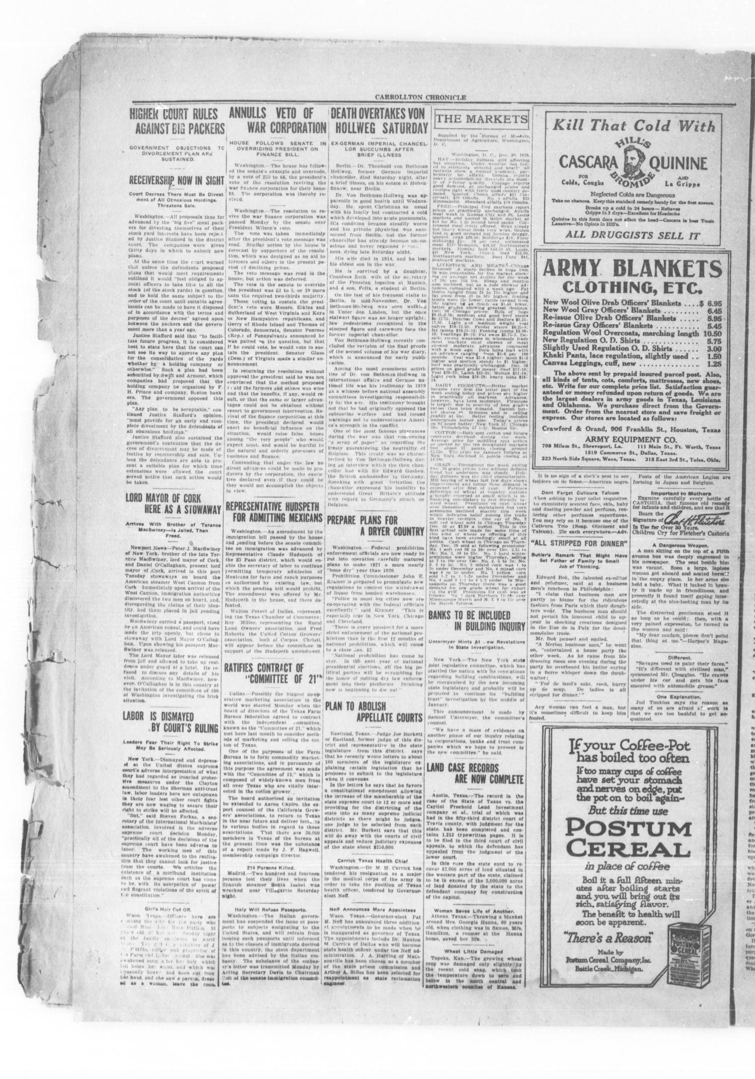 Carrollton Chronicle (Carrollton, Tex ), Vol  17, No  9, Ed