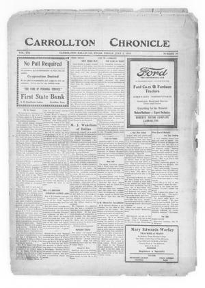 Primary view of object titled 'Carrollton Chronicle (Carrollton, Tex.), Vol. 16, No. 35, Ed. 1 Friday, July 2, 1920'.