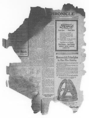 Primary view of object titled 'Carrollton Chronicle (Carrollton, Tex.), Vol. [16], No. 10, Ed. 1 Friday, January 9, 1920'.