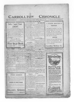 Primary view of object titled 'Carrollton Chronicle (Carrollton, Tex.), Vol. 17, No. 46, Ed. 1 Friday, September 23, 1921'.