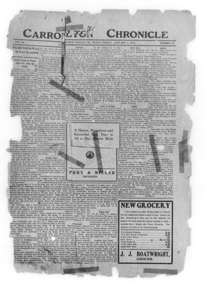 Primary view of object titled 'Carrollton Chronicle (Carrollton, Tex.), Vol. 9, No. 22, Ed. 1 Friday, January 3, 1913'.