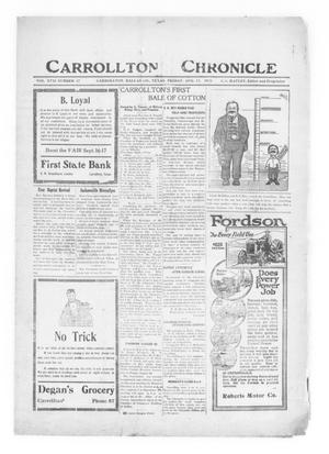 Primary view of object titled 'Carrollton Chronicle (Carrollton, Tex.), Vol. 17, No. 40, Ed. 1 Friday, August 12, 1921'.