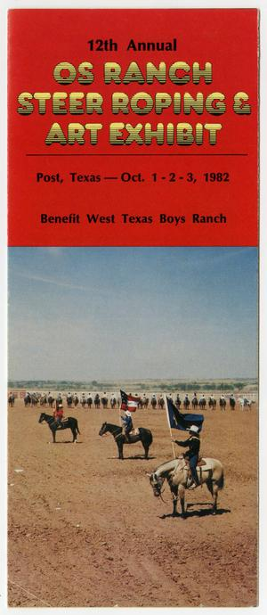 Primary view of object titled '[Brochure: 12th Annual OS Ranch Steer Roping & Art Exhibit]'.