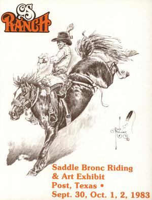 OS Saddle Bronc Riding & Art Exhibit, September 30 - October 2, 1983
