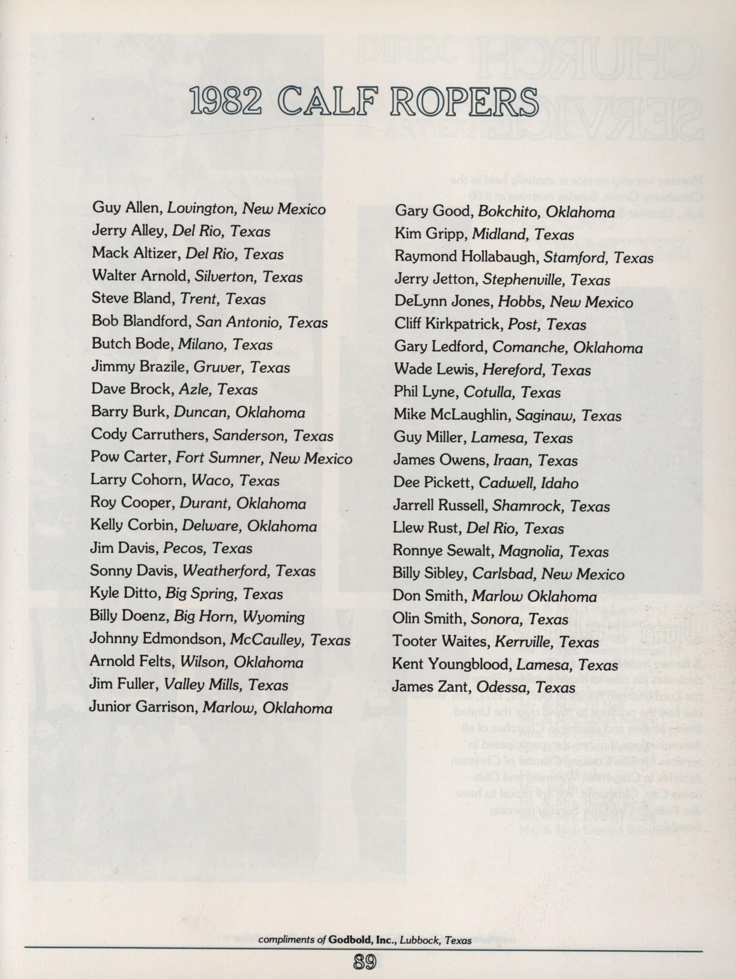 os ranch steer roping art exhibit page  os ranch steer roping art exhibit 1 3 1982 page 89