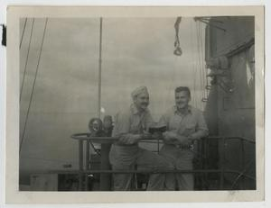 Primary view of object titled '[Photograph of U.S.S. Texas Flag Officers]'.