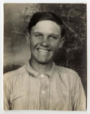 Primary view of object titled '[Photograph of Thurman Maxwell Smiling]'.