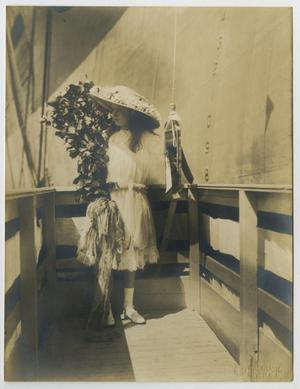 Primary view of object titled '[Photograph of Claudia Lyon at U.S.S. Texas Launching]'.